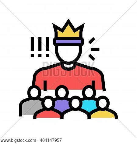 Authority People Value Color Icon Vector. Authority People Value Sign. Isolated Symbol Illustration