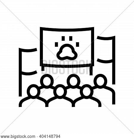 Demonstration For Free Animal Line Icon Vector. Demonstration For Free Animal Sign. Isolated Contour