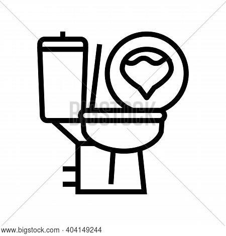 Urine Diabetes Symptom Line Icon Vector. Urine Diabetes Symptom Sign. Isolated Contour Symbol Black