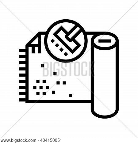 Carpet Cleaning Line Icon Vector. Carpet Cleaning Sign. Isolated Contour Symbol Black Illustration