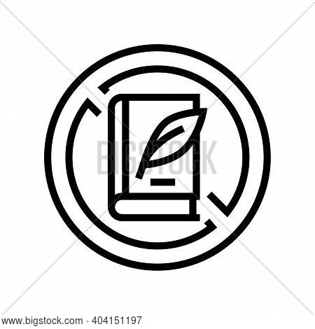 Lack Of Education Poverty Problem Line Icon Vector. Lack Of Education Poverty Problem Sign. Isolated