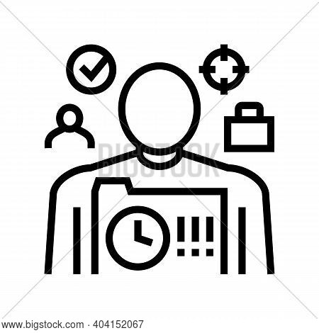 Responsibility People Value Line Icon Vector. Responsibility People Value Sign. Isolated Contour Sym