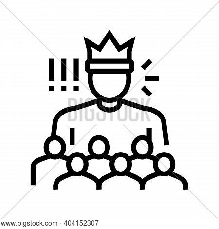 Authority People Value Line Icon Vector. Authority People Value Sign. Isolated Contour Symbol Black