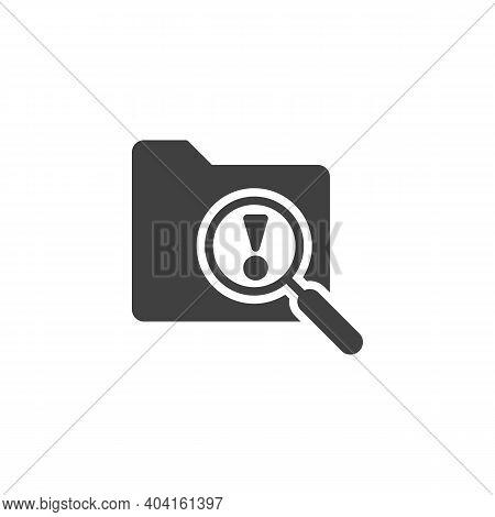 File Folder Scan Vector Icon. Filled Flat Sign For Mobile Concept And Web Design. Document Folder At