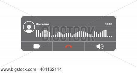 Panel Of New Call Screen Template. Incoming Call Interface. Vector