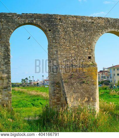 Historical Sight Kamares Aqueduct View, Larnaca, Cyprus