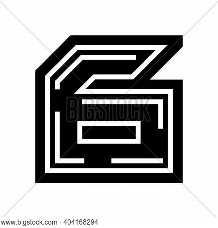 Sixth Number Glyph Icon Vector. Sixth Number Sign. Isolated Contour Symbol Black Illustration