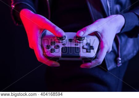 Man playing game with a game console experience