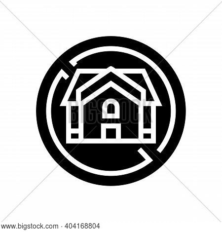Homeless Poverty Problem Glyph Icon Vector. Homeless Poverty Problem Sign. Isolated Contour Symbol B