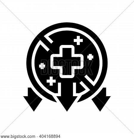 Illness, Poverty Problem Glyph Icon Vector. Illness, Poverty Problem Sign. Isolated Contour Symbol B