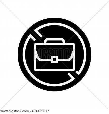 Job Lost Poverty Problem Glyph Icon Vector. Job Lost Poverty Problem Sign. Isolated Contour Symbol B