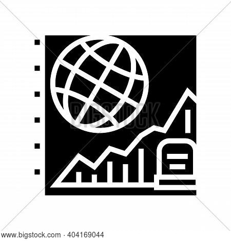 Starving, Increase Mortality Poverty Problem Glyph Icon Vector. Starving, Increase Mortality Poverty