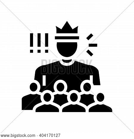 Authority People Value Glyph Icon Vector. Authority People Value Sign. Isolated Contour Symbol Black
