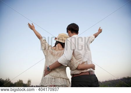 The Young Couple Romance High Quality Photo