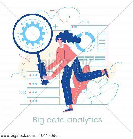 Enterprise Strategy Development Concept. Big Data Analytics. Business Intelligence. Business Rule. D