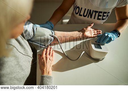 Elderly Person Undergoing A Routine Medical Examination