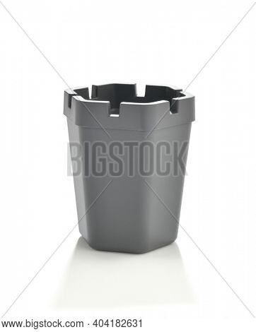 Side view of an ashtray isolated on white background