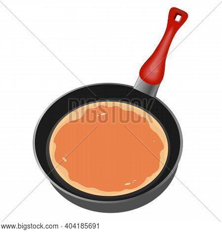 Pancake In A Frying Pan, Art Video Illustration.