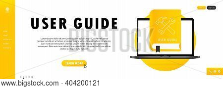 Concept User Guide Faq Book For Web Page, Banner, Social Media. User Guide Book.