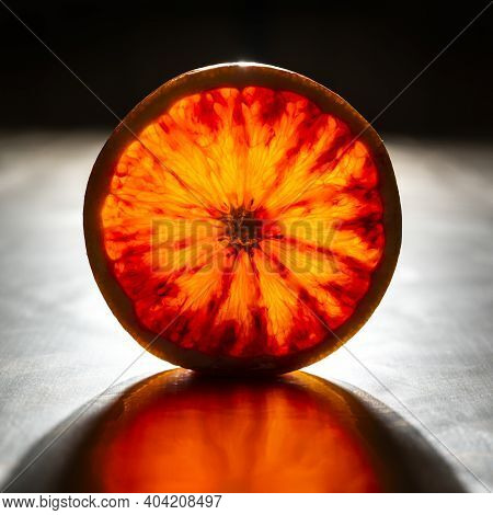 View Of The Transparent Light Of An Orange Slice