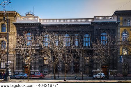 Budapest, Hungary, March 2020, View Of The Budapest Puppet Theater On Andrássy Avenue