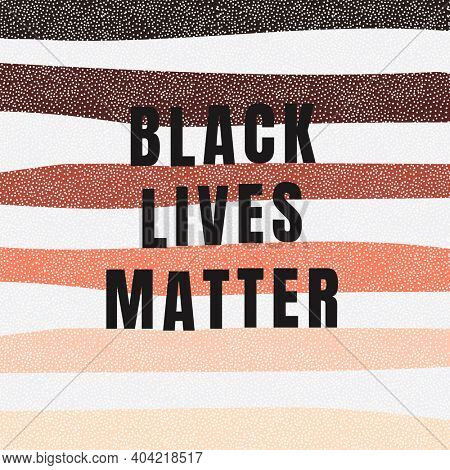 Black lives matter with colorful striped background social media post
