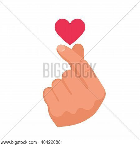 Heart After Clicking Fingers. Romantic Clicking Fingers. The Magic Gesture Of A Lover. Template For