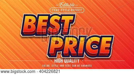 Editable Text Style Effect - Best Price Text Style Theme. Graphic Design Element.