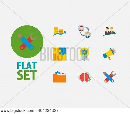 Partnership Icons Set. Successful Partnership And Partnership Icons With Creativity, Brainstorming A