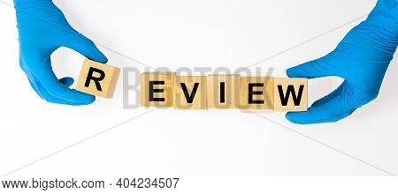 Review Word Inscription. Summary Or Revision Concept.