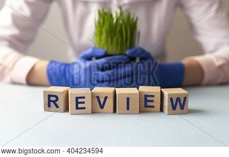 Review Word Inscription. Summary Or Revision Concept