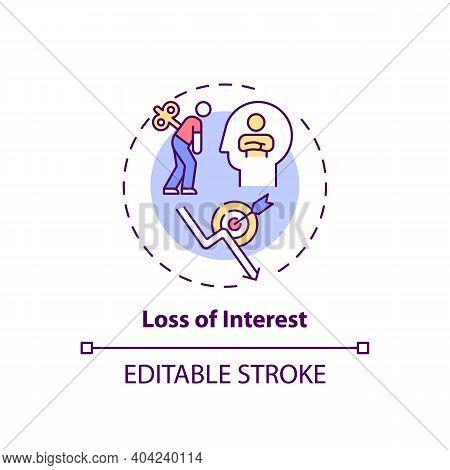 Interest Loss Concept Icon. Staff Development Disadvantage Idea Thin Line Illustration. Extensive Tr