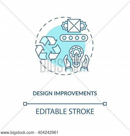 Design Improvements Concept Icon.cost Reduction Strategy Idea Thin Line Illustration. Value Chain Co