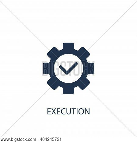 Execution Concept Icon. Simple One Colored Business Element Illustration. Vector Symbol Design From