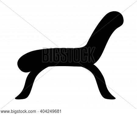 High-legged Couch Or Chaise Longue - Vector Silhouette Illustration For Logo Or Pictogram. Outline.