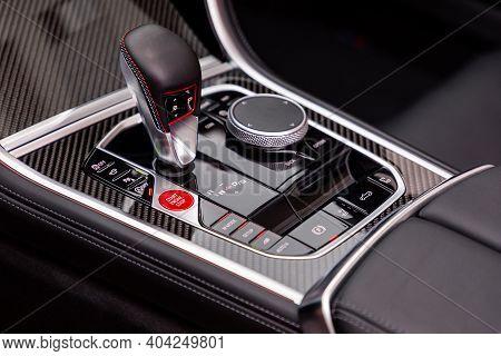Gear Shift In A New Sports Car