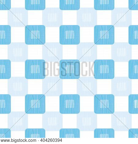 Textured Geometric Square Vector 3d Repeat Background. Geometric Design With Shadow Effect. Close Up
