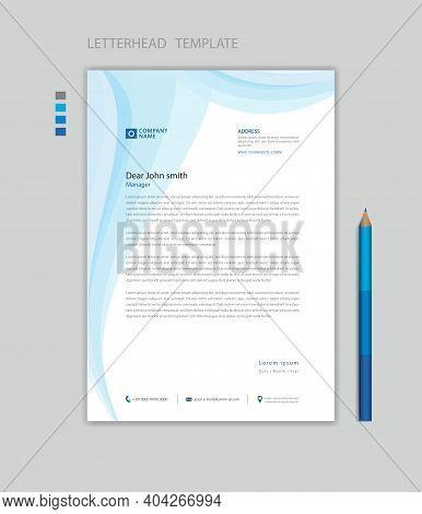 Letterhead Template Design Minimalist Style Vector, Letterhead Design Mockup, Letterhead For Busines