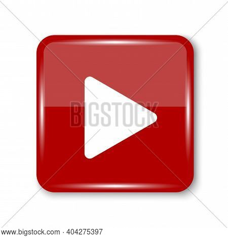 Button For Web Design. Play Button Icon Vector Illustration. Live Button. Stock Image. Eps 10.