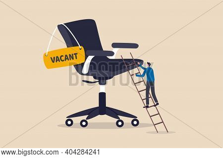 Candidate Searching For Job, Career Path Or Job Promotion To Be Management, Ladder Of Work Success C