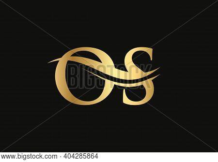 Monogram Letter Os Logo Design Vector. Os Letter Logo Design With Modern Trendy