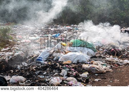 Garbage Pollution From Small Towns  Incinerated And Disposed Of Incorrectly A Source Of Pollution An