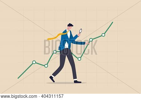 Stock Market Data Analysis, Financial Research Professional Or Investment And Economic Forecast Conc