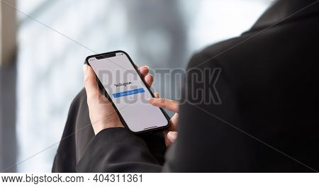 Chiang Mai, Thailand - Jan 17, 2021 : An Apple Iphone Showing The Instagram Application Alongside Ot
