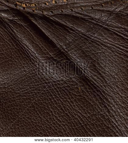Leather texture. Flexure.