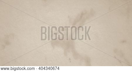 Brown Dirty Art Print. Watercolor Stains. Artistic Paint Surface. Rusty Grunge Wrinkled Paper. Stain