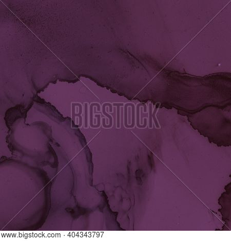 Burgundy Wine Background. Watercolour Winery Template. Modern Painted Stains. Purple Ink Paper. Burg