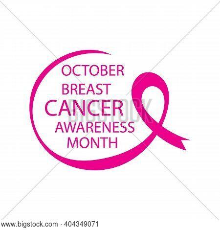 Breast Cancer Awareness Ribbon Vector Illustration