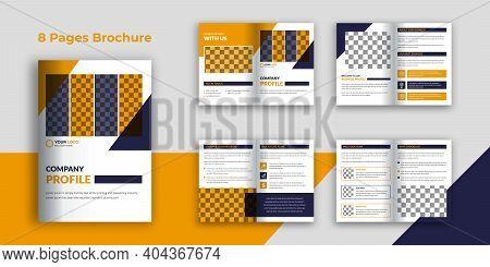 Creative Business Bi-fold Brochure Design Template, Company Profile