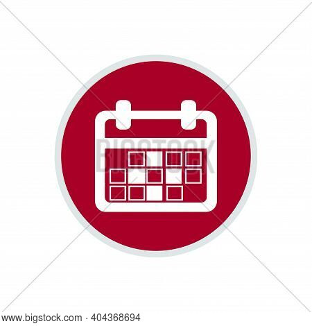 Calendar Icon Isolated On White Background, Calendar Icon Vector Flat Modern, Calendar Icon, Calenda